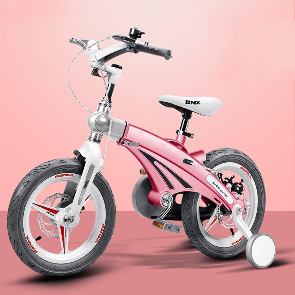 YANGFEI 子ども用自転車 子供の自転車の男の子のベビー自転車2歳から9歳のベビーキャリッジ12/14/16インチキッズバイクの自転車の長さのハンドルバーの座席 212歳 B07DWRQ8CL 14 inch|ピンク ぴんく ピンク ぴんく 14 inch