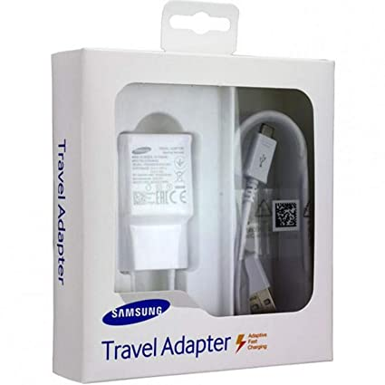 TPC - Cargador Original Samsung EP-TA20EWE Carga Rápida para Galaxy S6, S7,