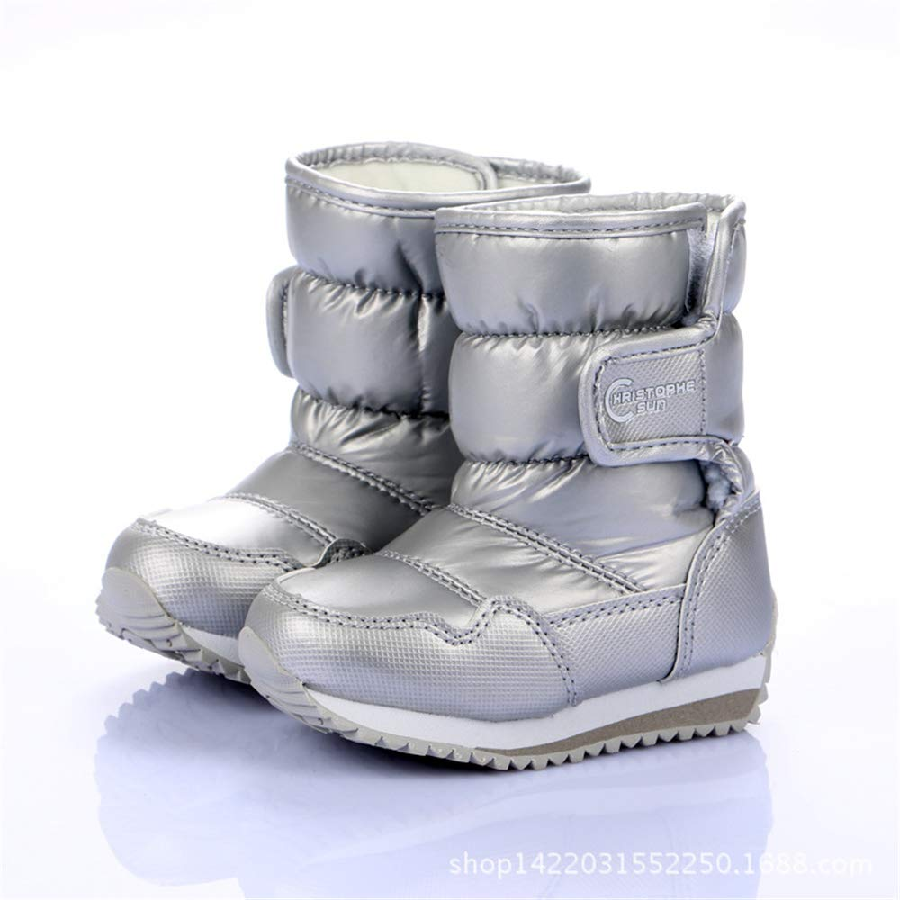 Toddlers//Little Boys /& Girls ALLAK Kids Insulated Snow Boots Warm /& Dry Easy Close