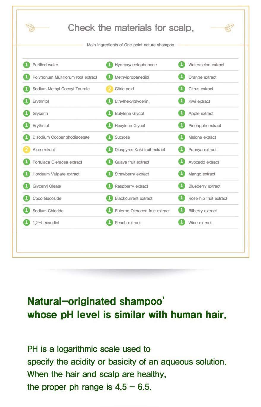 One Point Nature Jeju Organic Horse Oil Shampoo 1EA (33.8 oz)