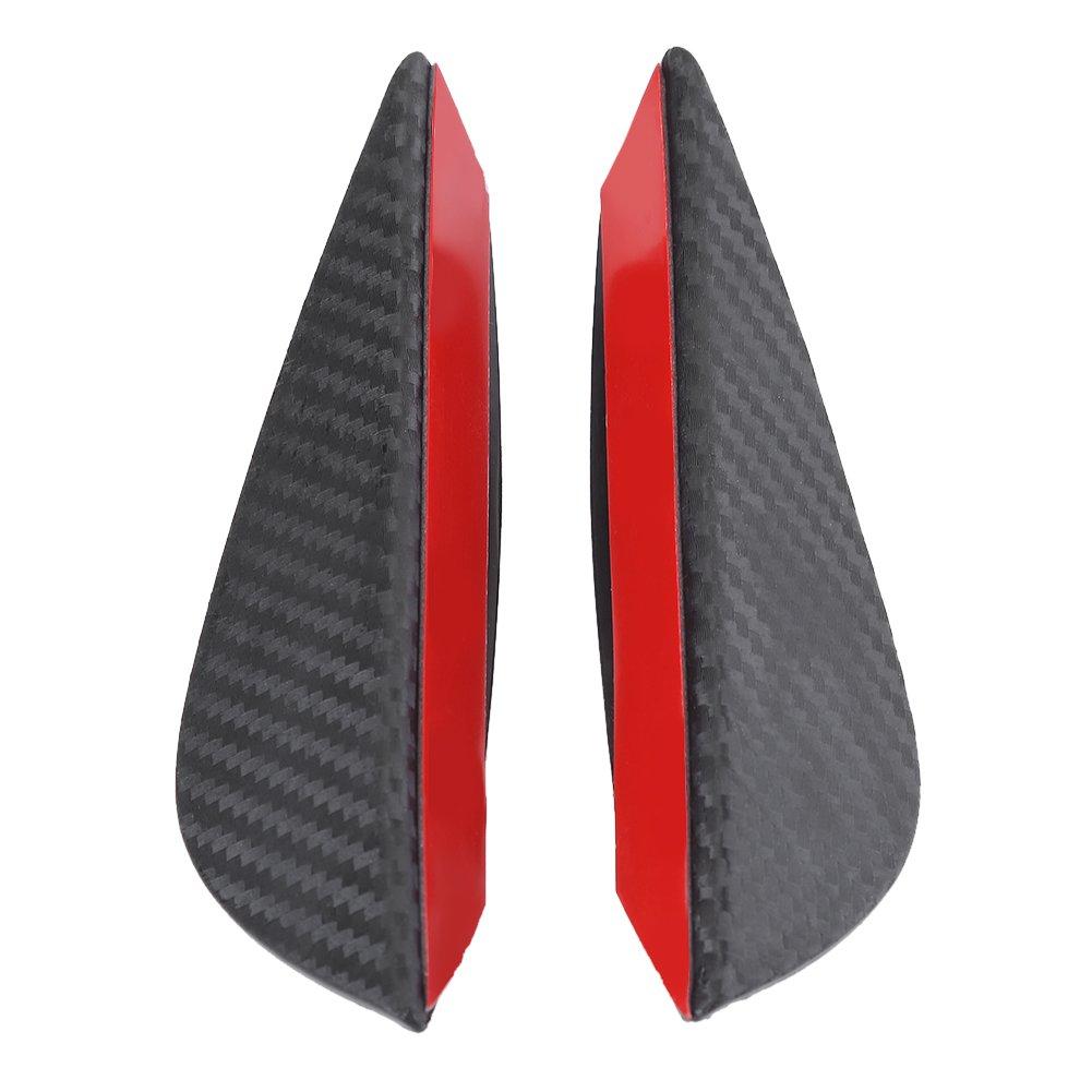 protector aleta parachoque con cinta adhesiva 4pcs spoiler delantero fibra de carbono