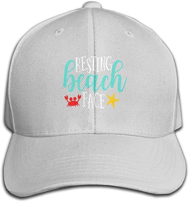 2e95c001921 Resting Beach Face Men   Women Solid Color Cotton Adjustable Plain Baseball  Cap Trucker Hat