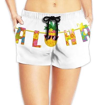 Uhouqujincisk Aloha Pineapple Ma'am Summer Comfortable Short Pants
