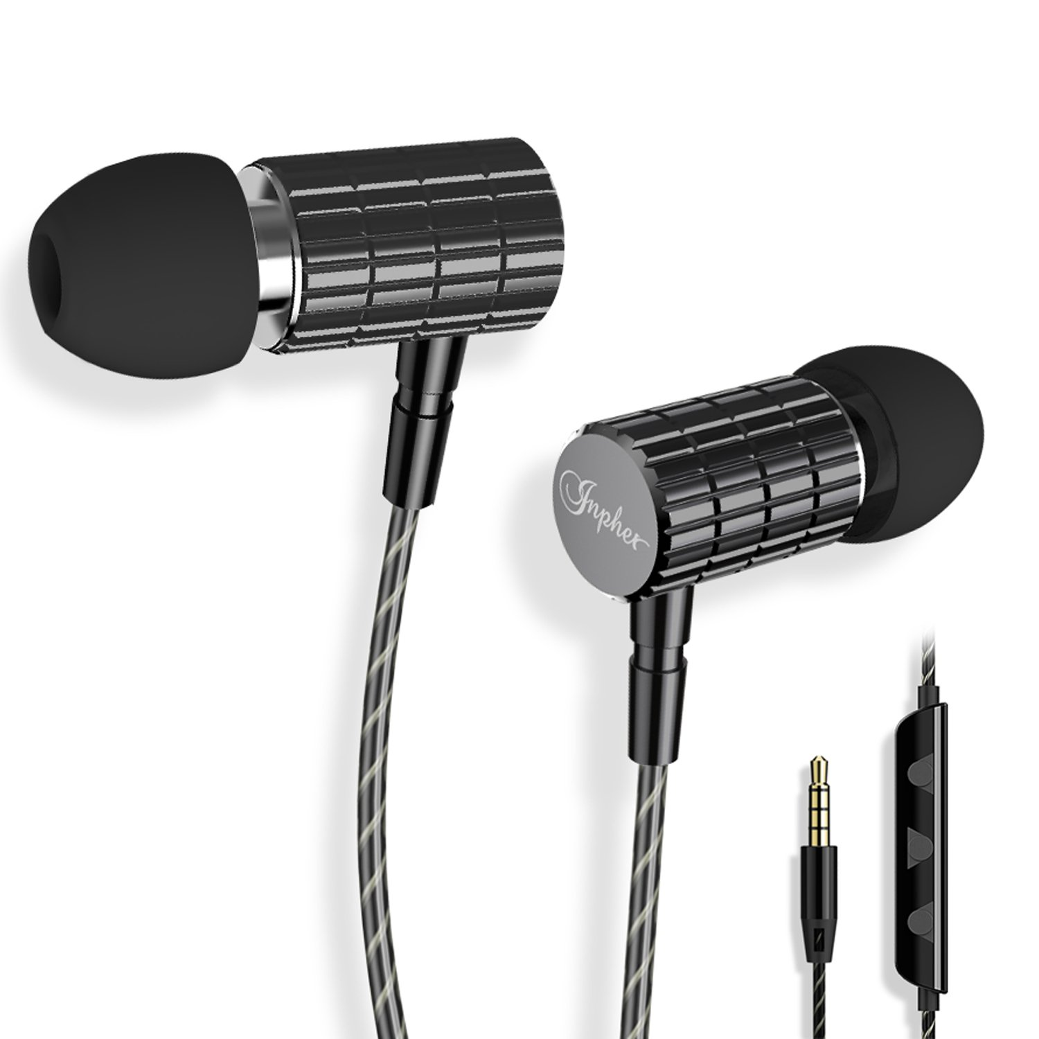 Earphones, Tintec in-Ear Earbuds Stereo Headphones High Definition, Tangle  Free, Noise Isolation, Heavy Deep Bass for iPhone, iPad, iPod, Samsung