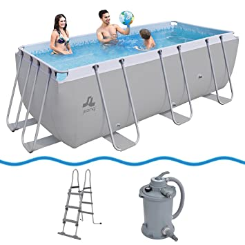 JILONG Swimming Pool Set Passaat Grey - Piscina con Armazón de ...