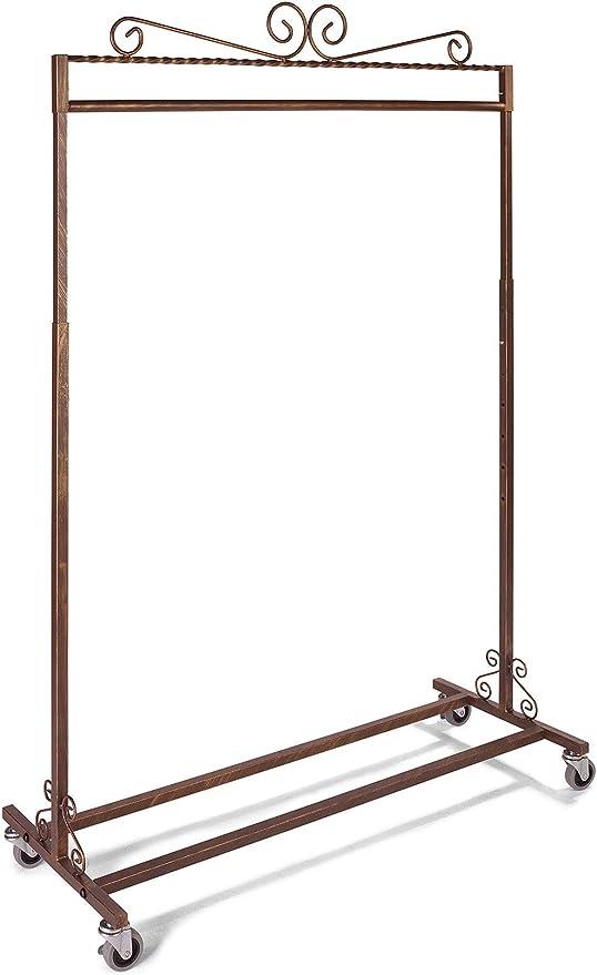 SSWBasics Boutique Ivory Single-Rail Rolling Rack 48 W X 20 D X 48-66 H