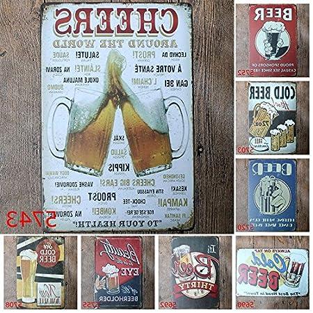 MoGist Plaque Murale en t/ôle m/étallique avec Inscription en Allemand Werbung Bier Art Schilder f/ür Hotel Bars Club Pub D/écoration Murale M/étal Beer 20 * 30cm