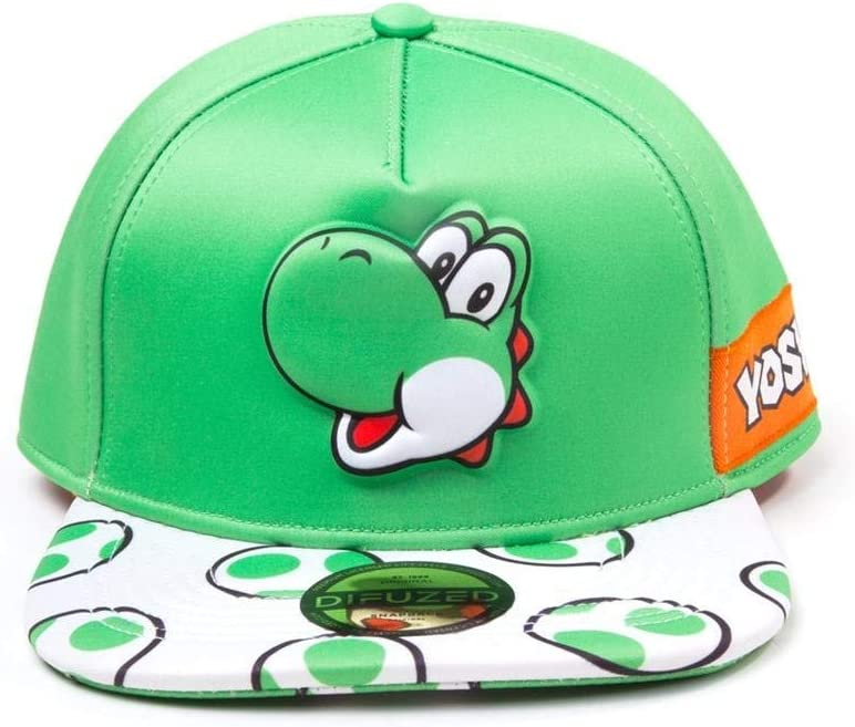 Bioworld Gorra Snapback Super Mario Yoshi Nintendo Verde Blanco ...
