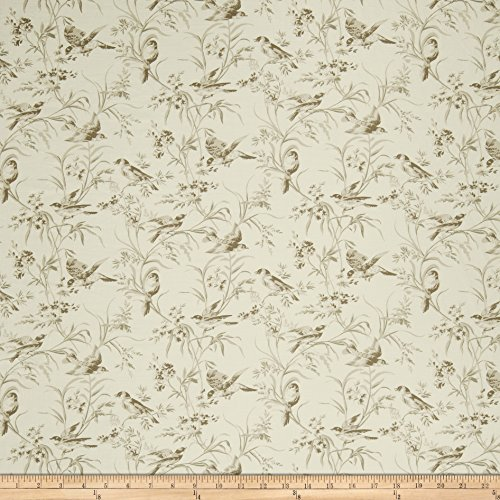 French General Aviary Toile Linen Bisque Fabric by The Yard