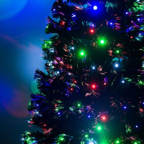 6' Artificial Holiday Fiber Optic / LED Light Up Christmas Tree w/ 8 Light Settings and Stand by HOMCOM (Image #4)