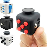 Fidget Cube with Silent Features,Comes in GIFT BAG with 2 FREE Fidget toys, Desk Toy Relieve Stress,Anxiety,Boredom. 6…