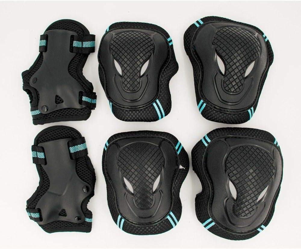 SVXGJ HOT 6pcs//Set Skating Protective Gear Set Elbow Pads Bicycle Skateboard Ice Skate Roller Knee Protector for Adult Kids Gift