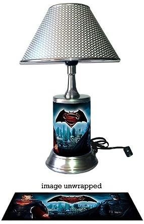 Superman Batman Lamp With Chrome Shade