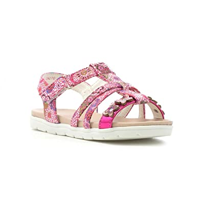 3fff662e0d94 Walkright Girls Pink Strappy Flat Sandal  Amazon.co.uk  Shoes   Bags