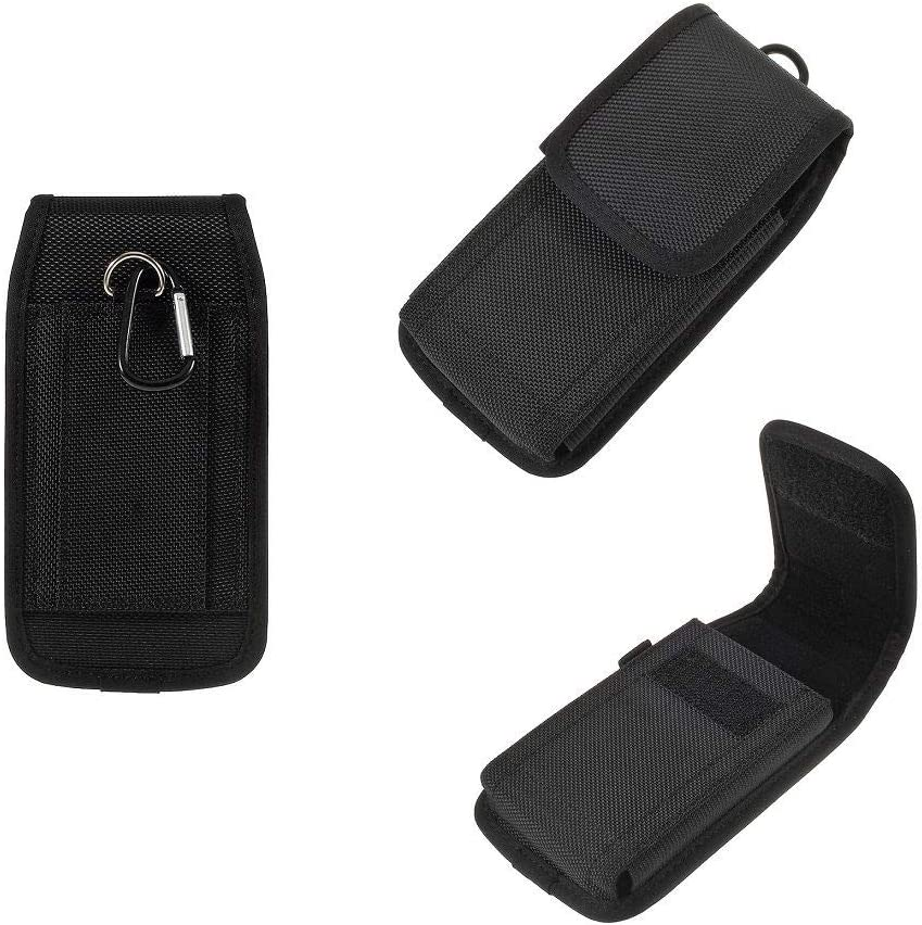 DFV mobile - Belt Case Cover Business Nylon for ZTE Blade V8 Pro - Black