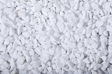 25 kg Weißer Marmorsplitt 9-12 mm Zierkies Gartenkies Teichkies Marmorkies Zen