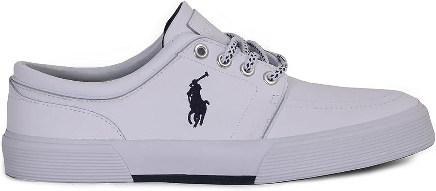 Polo Ralph Lauren - Zapatillas de Piel para Hombre Blanco Bianco