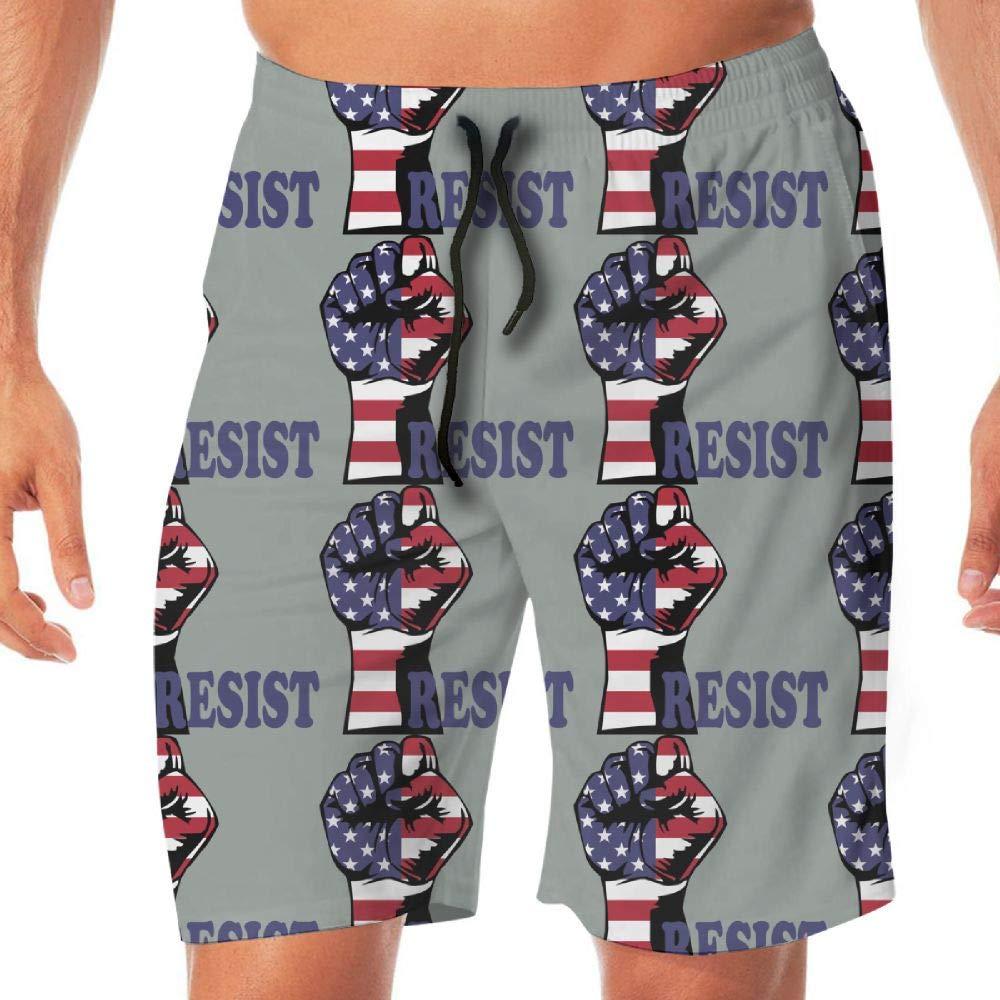 STDKNSK9 Mens Resist American Flag Board Shorts Swim Trunks No Mesh Lining