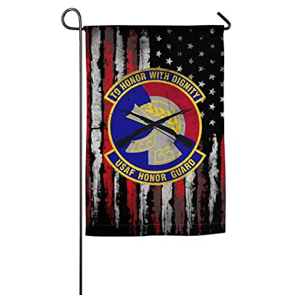Amazon com : JANLAGEJRFLAG USAF Honor Guard Emblem Garden Flags 18 X