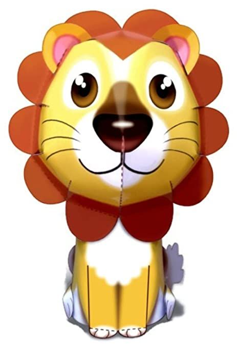 Lion awesome easy fun DIY 3D art paper craft mini model kit toy