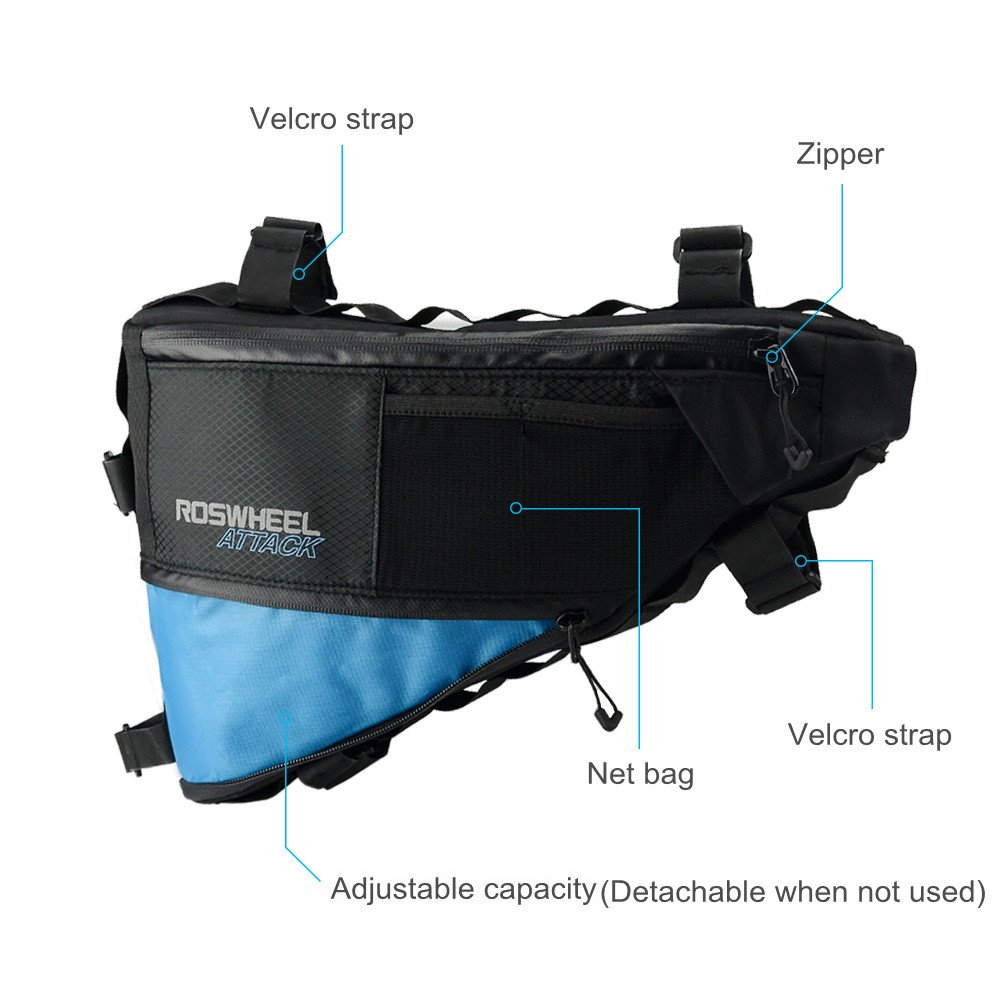 allnice Bike Frame Bag 3-4L Frame Pouch Waterproof Bike Storage Bag Mountain Road MTB Bicycle Triangle Bag Strap-on Bicycle Pouch by allnice (Image #4)