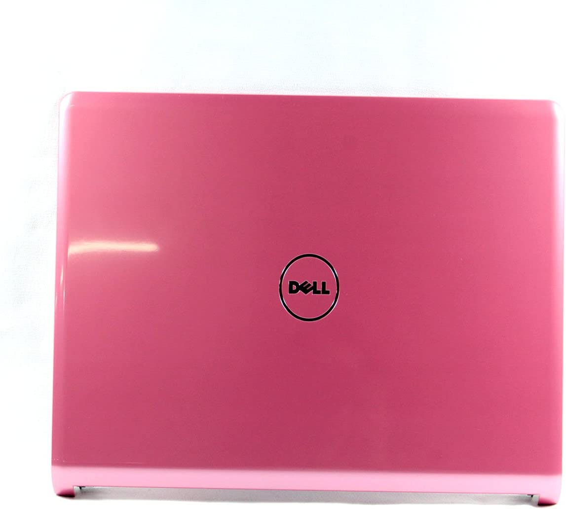 Dell Inspiron 1464 LCD Back Cover Lid Pink with Hinges Wifi Cables M34K1