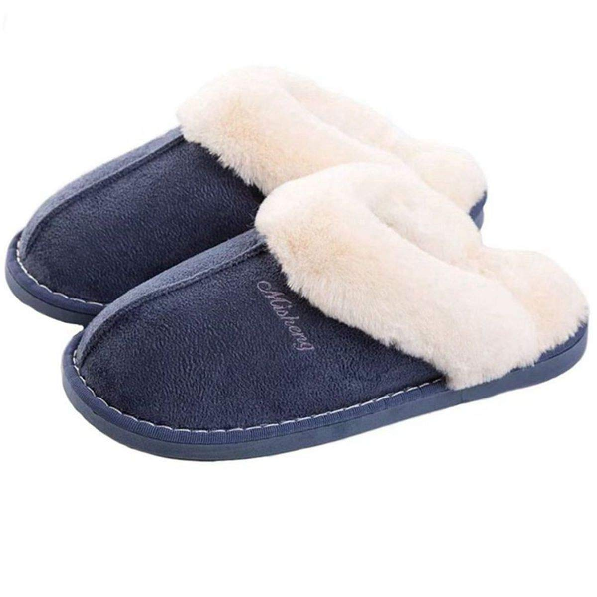 OSHOW Womens Slipper, Fluffy Slip On House Slippers Clog Soft Indoor Outdoor Slipper for Winter by OSHOW
