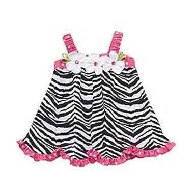 e85af3f564 Amazon.com  Rare Editions Toddler Girls Black   White Zebra Print ...
