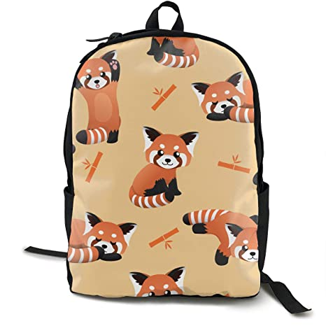 6aca9f7e93a BLACK SP Cute Red Panda Unisex Durable Laptop Backpack College School  Bookbag Computer Bag for School