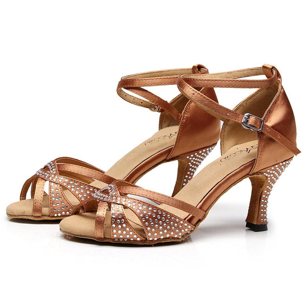 Femmes Latin Satin Strass Latin B072J4L36D Salsa Tango Talon Danse Sandales Danse Morden Ballroom Dames Danse Chaussures Bronze 7445f7f - deadsea.space