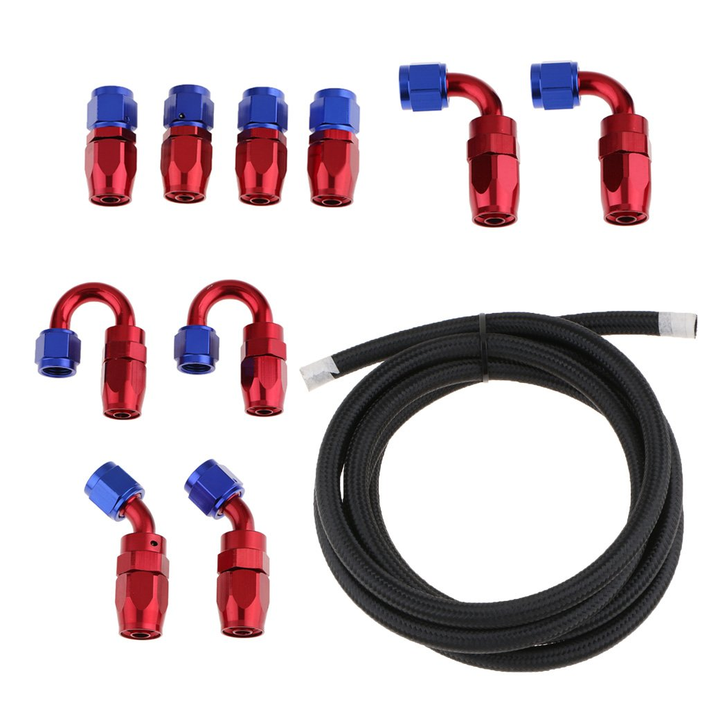 AN 6 bianca 90 Gradi e 180 Gradi Tubo Flessibile Ruotabile di 45 Gradi Accessori in Nylon e CPE