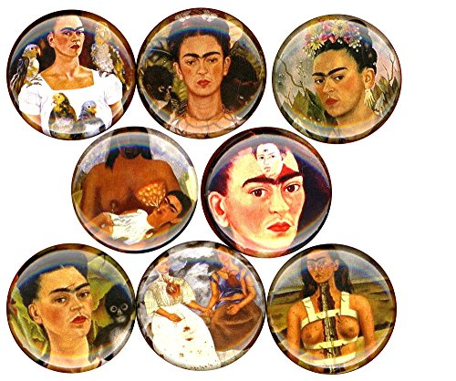 Frida Kahlo x 8 NEW pins button badge mexican artist self portrait
