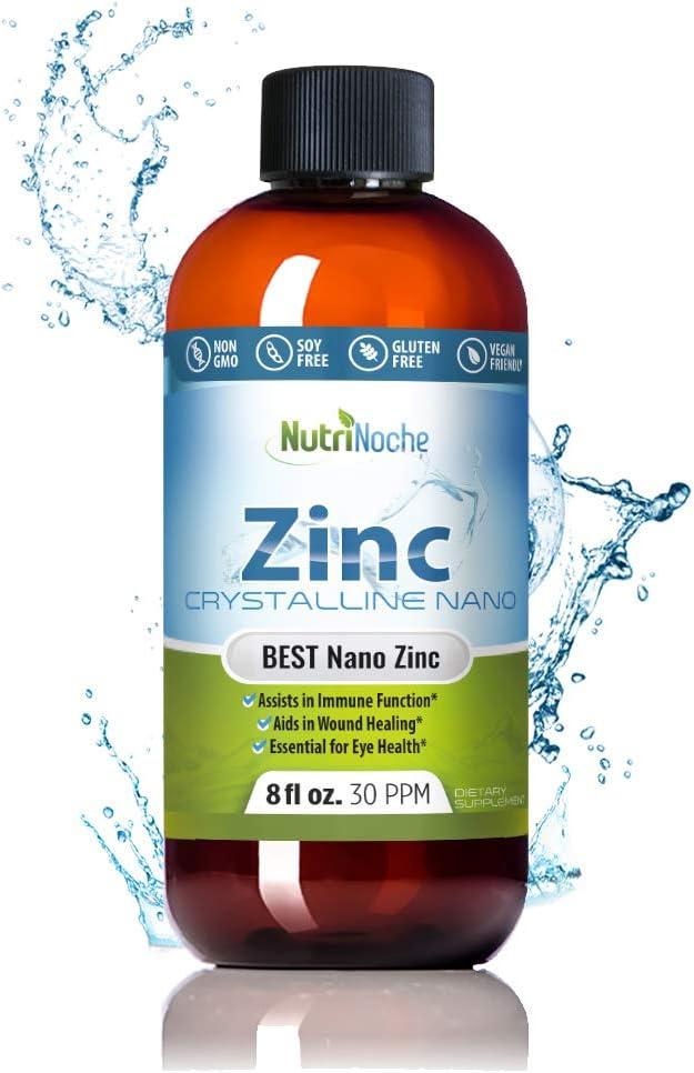 Amazon.com: NutriNoche Pure Crystalline Liquid Zinc Supplement - 30 PPM -  Colloidal Minerals: Health & Personal Care