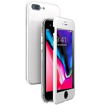 WindCase Funda iPhone 7 Plus, Funda iPhone 8 Plus, 360 Grados Cuerpo Completo Protección + Cristal Templado, 2 en 1 Duro Lustroso PC Carcasa con ...