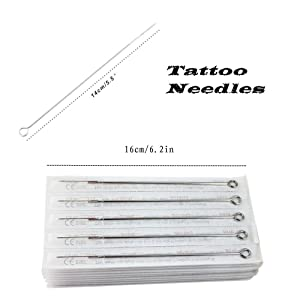 Tattoo Needles Set - Yuelong 50Pcs Mixed Disposable Sterile Tattoo Guns Needles 3rl 5rl 7rl 9rl 5rs 7rs 9rs 5m1 7m1 9m1 Used For Tattoo Machine Tattoo Kit Tattoo Supplies (Tamaño: 50PCS)
