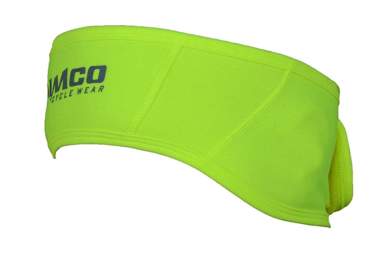 Zimco Cycle wear Unisex Cycling Thermal Windbreak Headband Ear Warmer Head Black and Neon