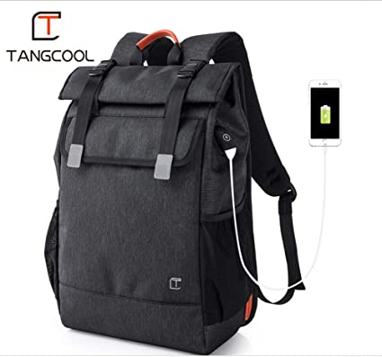 Tangcool Fashion Backpack,15.6 inch Laptop Waterproof   Anti Theft Bag with  USB Charge Port a2f8e01c8a9c8