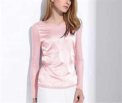 46794ff76ef18b Micca Bacain Women s Shirts Blouses Long Sleeve Formal Chiffon ...