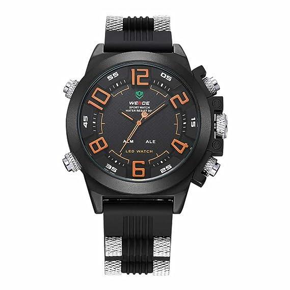 WEIDE Reloj Militar Hombres correas de silicona reloj de pulsera Nuevo famoso Mens ejército deportes reloj