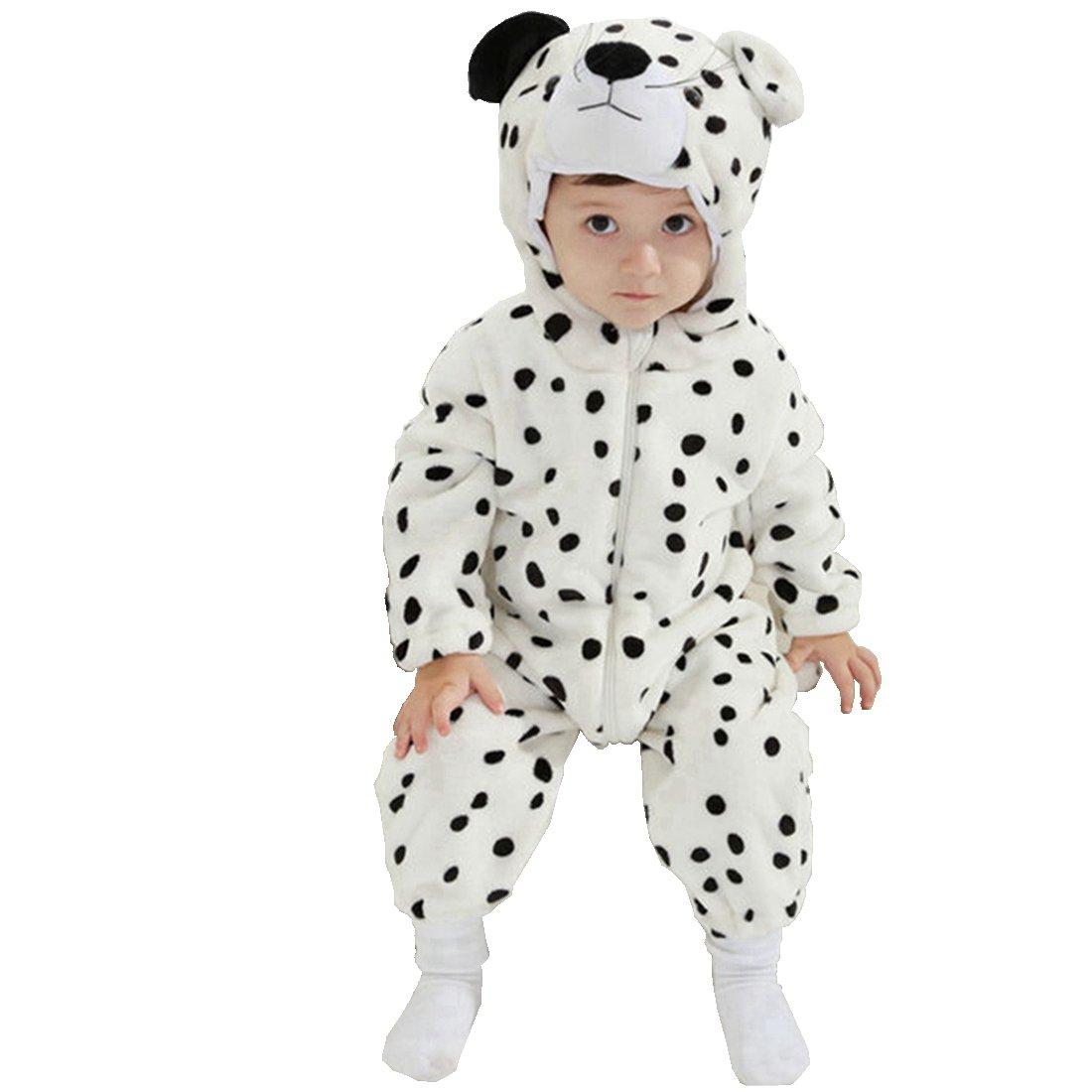 IFLIFE Bebé Kigurumi Pijamas Pelele Animal Mono para Niño Niña Infantil, Ropa de Noche con Capucha