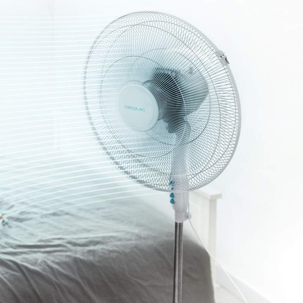 altezza regolabile telecomando 6 lame 45 cm Cecotec Ventilatori a piantana Energy Silence Max Flow Control 18 pollici potenza 70 W motore in rame 3 velocit/à timer oscillazione 75 /°