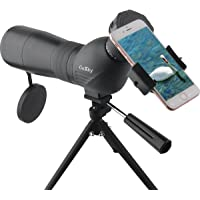Gosky Skybird 60mm Spotting Scope & Quick Smartphone Mount Kit - with Metal TabletopTripod - Capture and Share Beauty in Distant World
