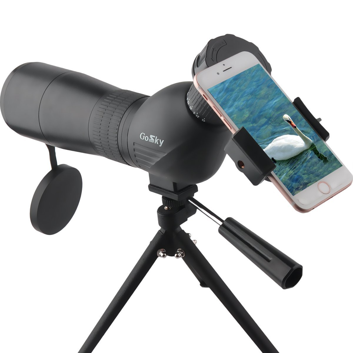 Gosky Skybird 60mm Spotting Scope & Quick Smartphone Mount Kit - with Metal TabletopTripod - Capture and Share Beauty in Distant World by Gosky