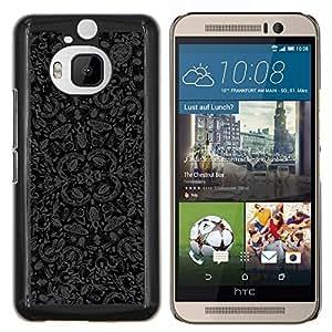 YiPhone /// Prima de resorte delgada de la cubierta del caso de Shell Armor - Errores Wallpaper Mariposas Naturaleza Arte Gris Negro - HTC One M9Plus M9+ M9 Plus