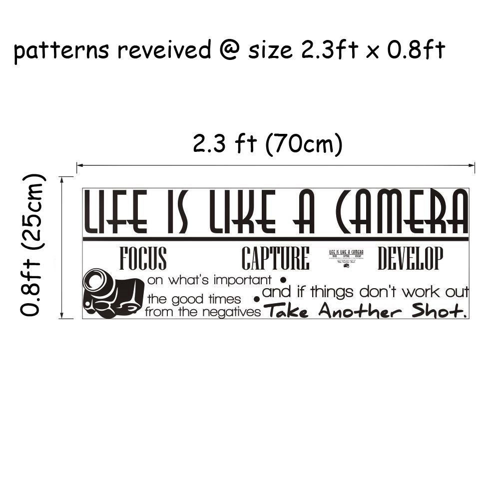 Amazon elecmotive life is like a camera focus capture develop amazon elecmotive life is like a camera focus capture develop and take another shot vinyl wall decals quotes sayings words art decor lettering vinyl amipublicfo Gallery