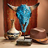 Cheap Design Toscano Western Turquoise Encrusted Faux Turq. Cow Skull Statue