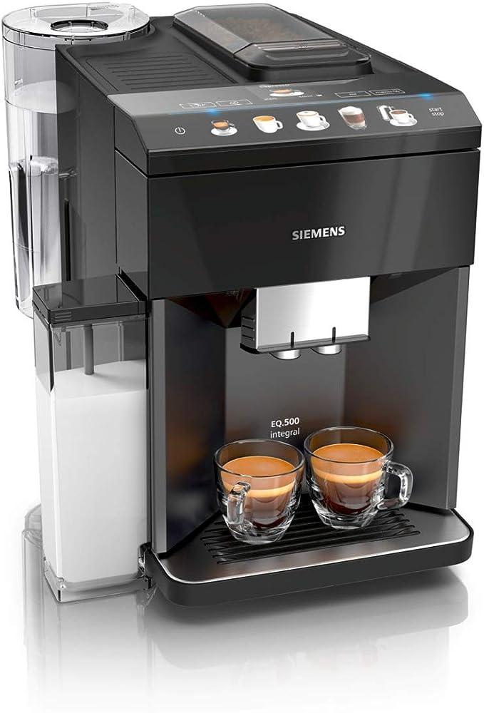 Siemens EQ.500 integral Cafetera automática, 1500 W, 1.7 litros, plástico, Negro: Amazon.es: Hogar