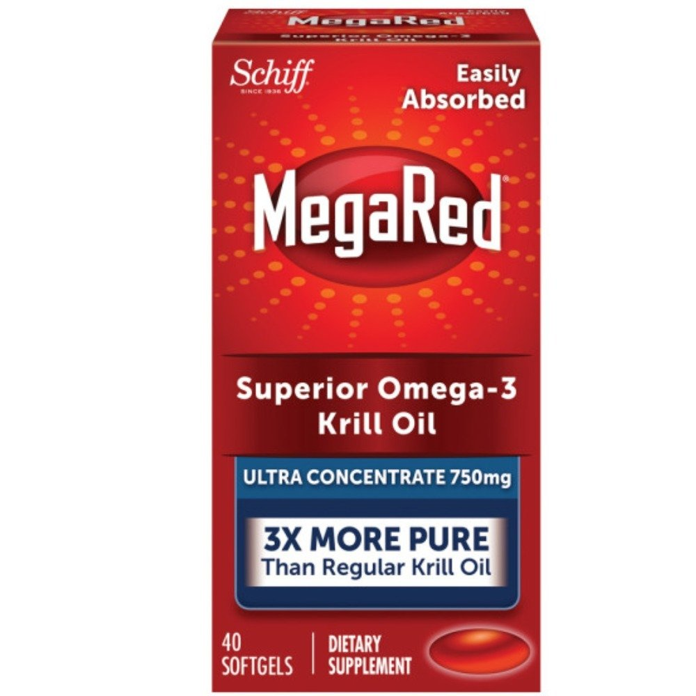 MegaRed Ultra Concentration Omega Krill Oil 750mg, 40 ct (Pack of 12) by Schiff