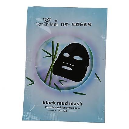 TOOGOO(R) 10 Bolsas Barro Negro Mascara facial de limpieza profunda de la piel
