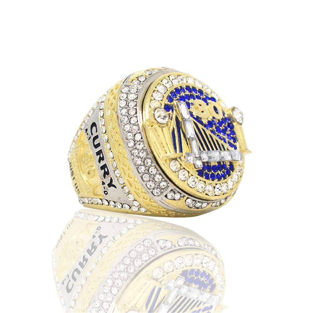 Championnat Golden State Warriors Ring 2018 R/éplique De Joueurs De Curry pour La Collection De Son Petit Ami,9 Luxuon BaguesMales Ring